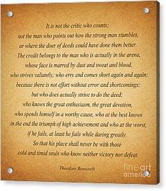 104- Theodore Roosevelt Acrylic Print by Joseph Keane