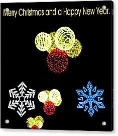 105 - Malaga Christmas Lights  Acrylic Print by Patrick King
