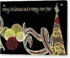 106 - Malaga Christmas Lights   Acrylic Print by Patrick King