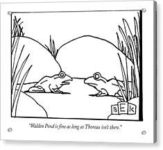 Walden Pond Is Fine As Long As Thoreau Isn't Acrylic Print