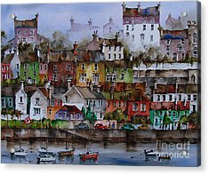 107 Windows Of Kinsale Co Cork Acrylic Print