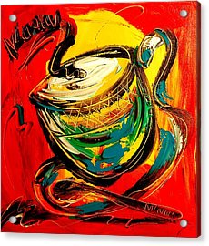 Coffee Acrylic Print by Mark Kazav