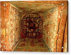 10th Century Murals Of The Ancient Acrylic Print by Jaina Mishra
