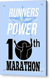 10th Marathon Race Poster  Acrylic Print by Aloysius Patrimonio