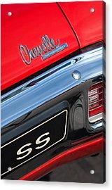 1970 Chevrolet Chevelle Ss Taillight Emblem Acrylic Print by Jill Reger