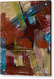 On The Diagonal Acrylic Print by Tracy L Teeter