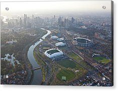 Aerial Views Of Australia Acrylic Print by Brett Price