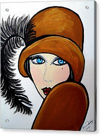 Art Deco  Gail Acrylic Print by Nora Shepley