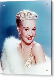 Betty Grable Acrylic Print by Silver Screen