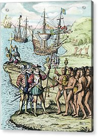 Christopher Columbus (1451-1506) Acrylic Print by Granger