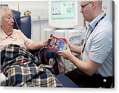 Dialysis Unit Acrylic Print by Life In View/science Photo Library