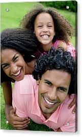 Happy Family Acrylic Print by Ian Hooton/science Photo Library