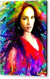 Jennifer Lopez Acrylic Print