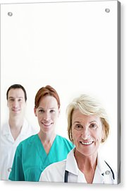 Medical Staff Acrylic Print by Ian Hooton/science Photo Library