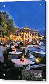 Molyvos Town In Lesvos Island Acrylic Print by George Atsametakis