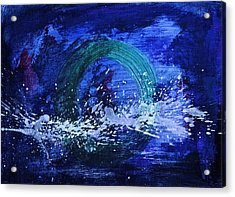 Acrylic Print featuring the painting White Splash by Tracey Myers