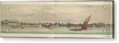 Panorama Of The City Of Dacca Acrylic Print