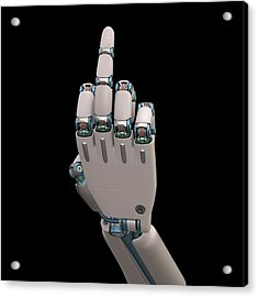 Robotic Hand Acrylic Print by Ktsdesign