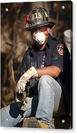 11 September Rescue Worker Acrylic Print
