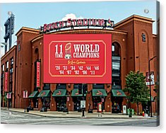 11 Time World Champion St Louis Cardnials Dsc01294 Acrylic Print