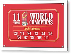 11 Time World Chapion Poster Dsc01106 Acrylic Print