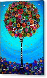 Tree Of Life Acrylic Print by Pristine Cartera Turkus