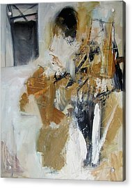 Two Figures Acrylic Print by Fred Smilde