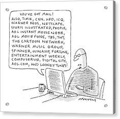 New Yorker January 24th, 2000 Acrylic Print by Mick Stevens