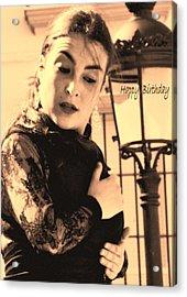 114 Chiki Torres Birthday Card - Flamenco Dancer Acrylic Print by Patrick King