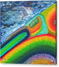 114 'lagostract' Acrylic Print by Gregory Otvos