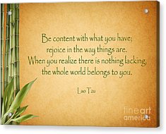 114- Lao Tzu Acrylic Print