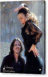 115 Chiki Torres Birthday Card - Flamenco Dancer Acrylic Print by Patrick King