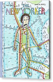 New Yorker June 30th, 2008 Acrylic Print by Roz Chast