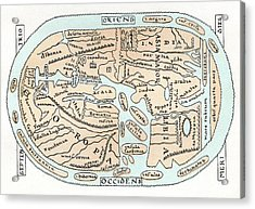 11th Century World Map Acrylic Print by Cci Archives