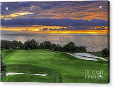 11th Green - Trump National Golf Course Acrylic Print
