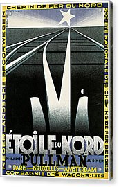 Etoile Du Nord Train Acrylic Print by A M Cassandre