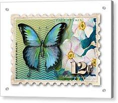 12 Cent Butterfly Stamp Acrylic Print by Amy Kirkpatrick