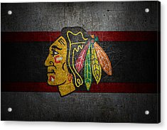 Chicago Blackhawks Acrylic Print by Joe Hamilton