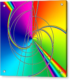 Depression Color Therapy Inside A Rainbow Acrylic Print by Sir Josef - Social Critic - ART