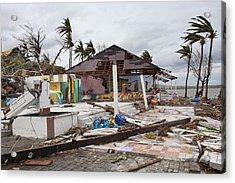 Destruction After Super Typhoon Haiyan Acrylic Print by Jim Edds