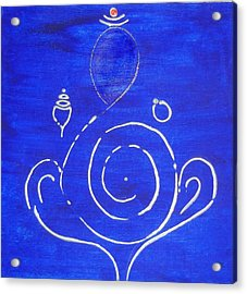 16 Ganesh Acrylic Print by Kruti Shah