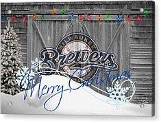 Milwaukee Brewers Acrylic Print by Joe Hamilton