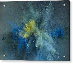 Powder Explosion Acrylic Print by Sunny