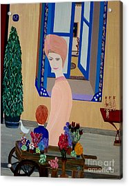 Acrylic Print featuring the painting 12 Rue Cadet by Bill OConnor