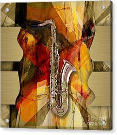 Saxophone Collection Acrylic Print