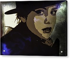 Acrylic Print featuring the digital art Selena Gomez by Svelby Art