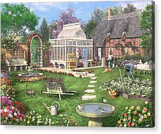 The Cottage Garden Acrylic Print by Dominic Davison