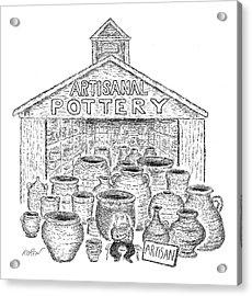 Artisanal Pottery Acrylic Print by Edward Koren