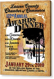 122nd Annual Awards Dinner Acrylic Print