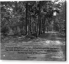 12a- Robert Frost  Acrylic Print by Joseph Keane